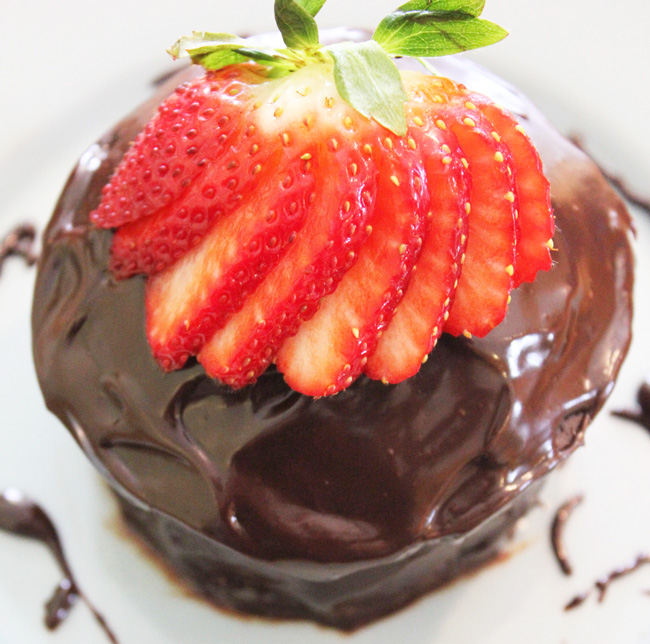 Dairy Free Mini Chocolate Cake for Two