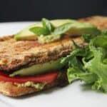 vegan eggplant sandwiches with avocado