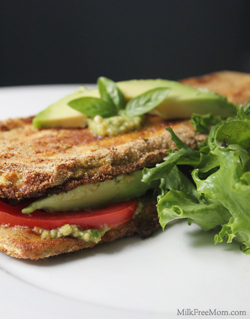 vegan eggplant sandwiches with avocado
