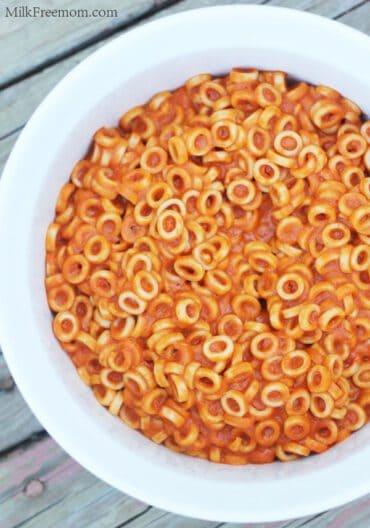 Dairy Free SpaghettieOs