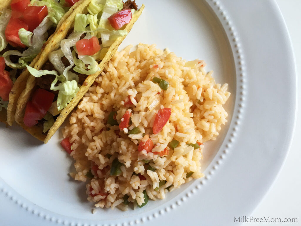Easy Dairy Soy Free Taco Rice