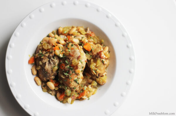 Dairy-Free Chicken With White Beans And Wine