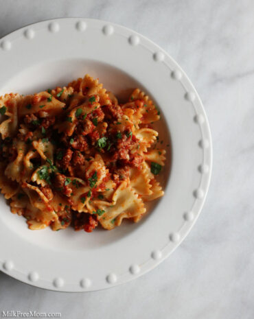 Easy Dairy-Free Pasta With Sausage