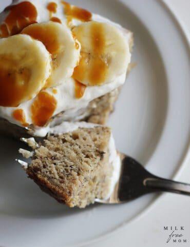 Dairy Free Banana Cake (vegan)