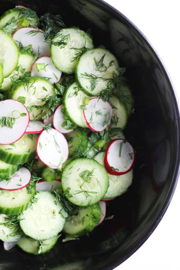 Herbed Cucumber Salad