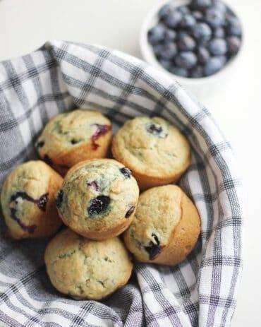 Dairy-free blueberry muffins (vegan)