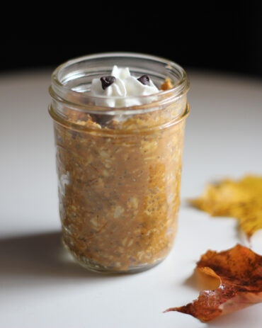 overnight pumpkin pie oats vegan dairy free