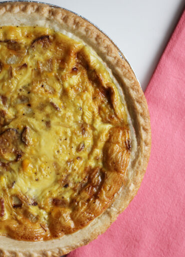 dairy free quiche with bacon and onion