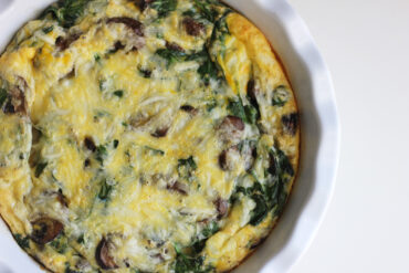 Dairy Free Spinach Mushroom Baked Omelette