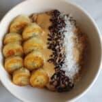 dairy free caramelized banana oatmeal bowl
