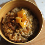 Dairy Free Caramel Apple Oatmeal