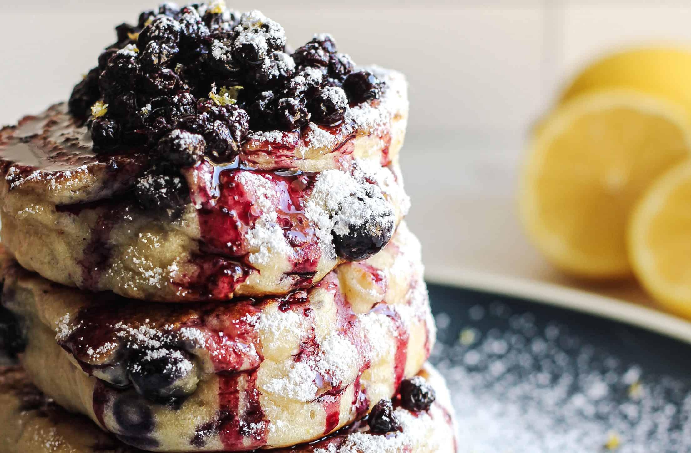 Milk Free Lemon Blueberry Pancake