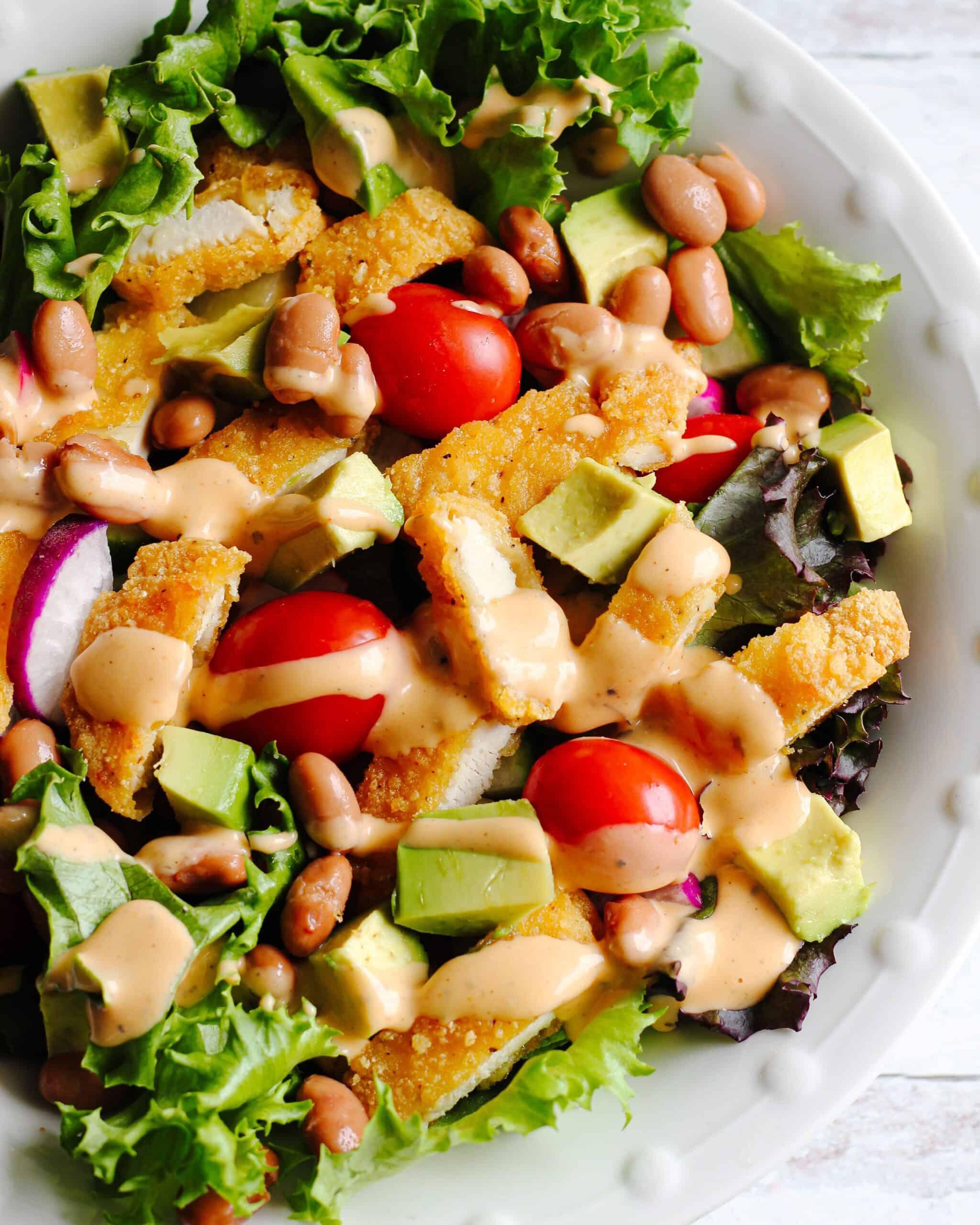 Dairy Free Crispy Chicken Salad